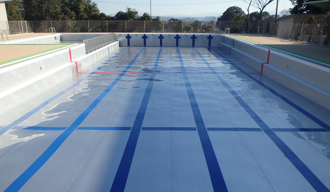 公共工事 明野北小学校の屋外プール の改修工事