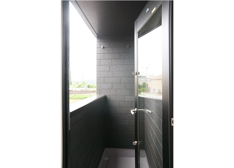新築賃貸アパート建設施工工事 2階 寝室1 バルコニー