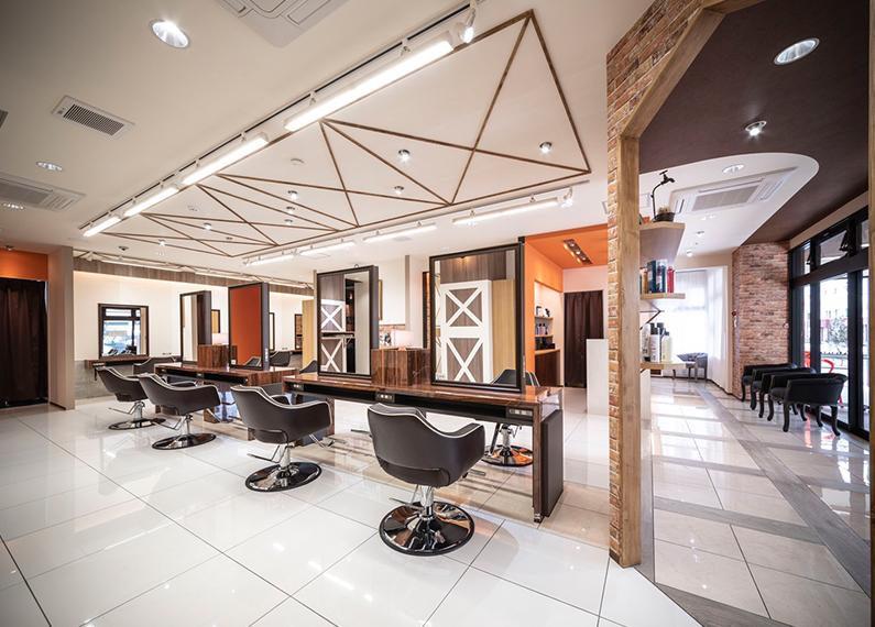 美容室 美容院 ヘアサロン 施工店舗フロア内装