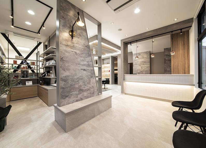 日田市 美容室 店舗付き住宅 新築工事 ウェイティングエリア