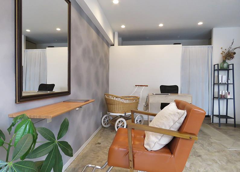 大分市畑中 美容室 店舗 内装改装工事 施術スペース