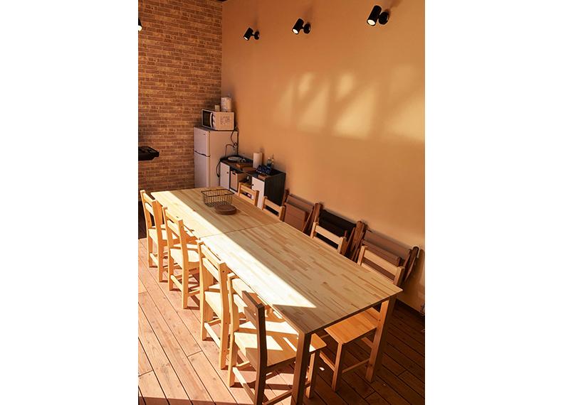 別府グランピングリゾート施設さま 新築工事客室内バーベキュースペース